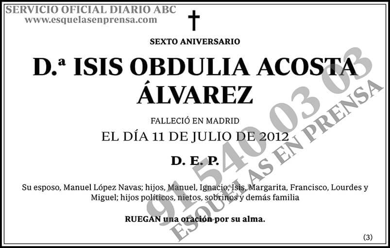 Isis Obdulia Acosta Álvarez